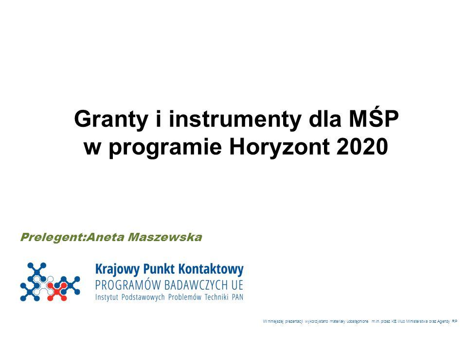 Granty i instrumenty dla MŚP
