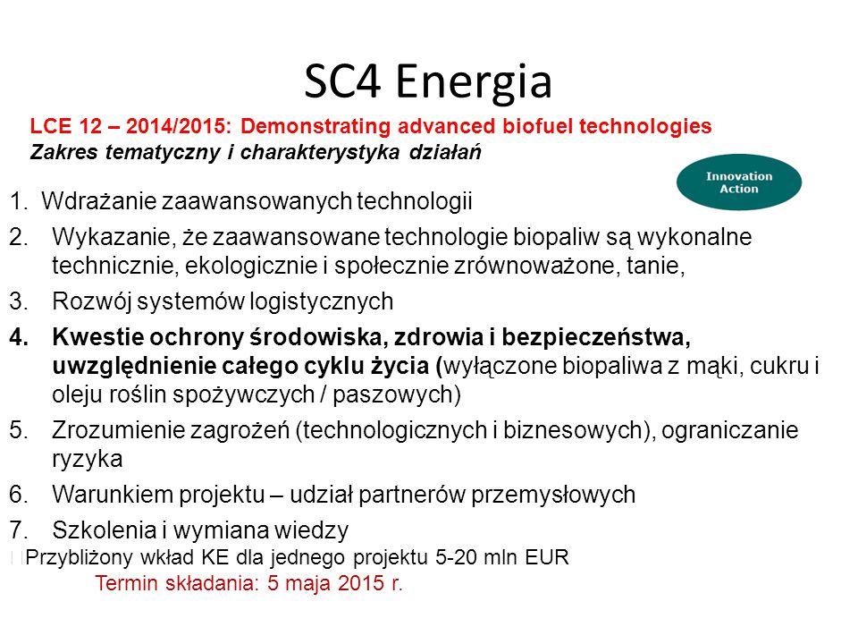 SC4 Energia Wdrażanie zaawansowanych technologii
