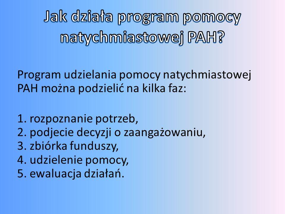Jak działa program pomocy natychmiastowej PAH