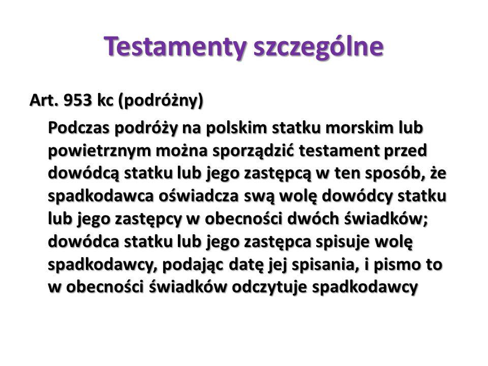 Testamenty szczególne