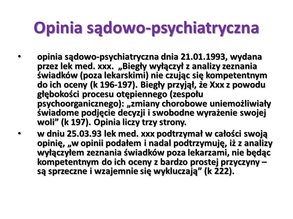 Opinia sądowo-psychiatryczna