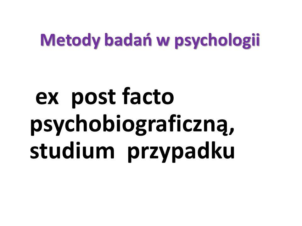 Metody badań w psychologii