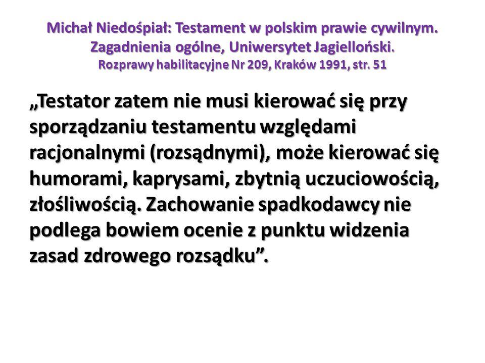 Michał Niedośpiał: Testament w polskim prawie cywilnym