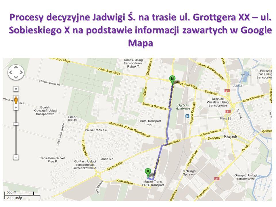 Procesy decyzyjne Jadwigi Ś. na trasie ul. Grottgera XX – ul
