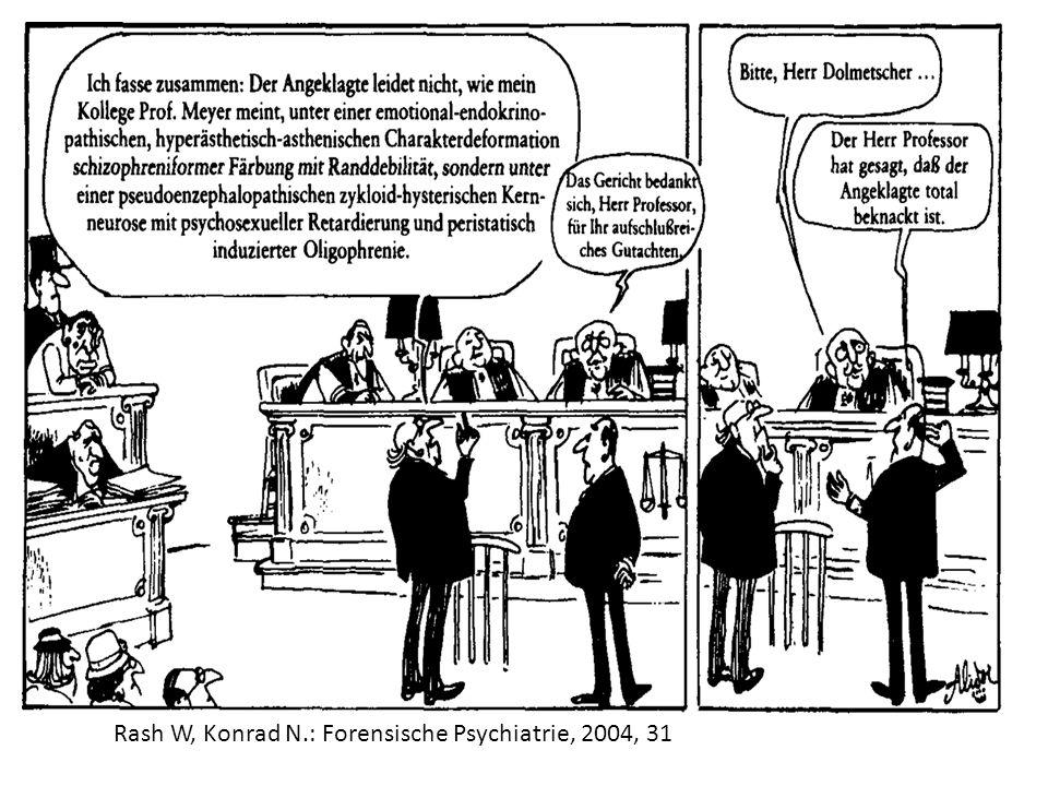Rash W, Konrad N.: Forensische Psychiatrie, 2004, 31