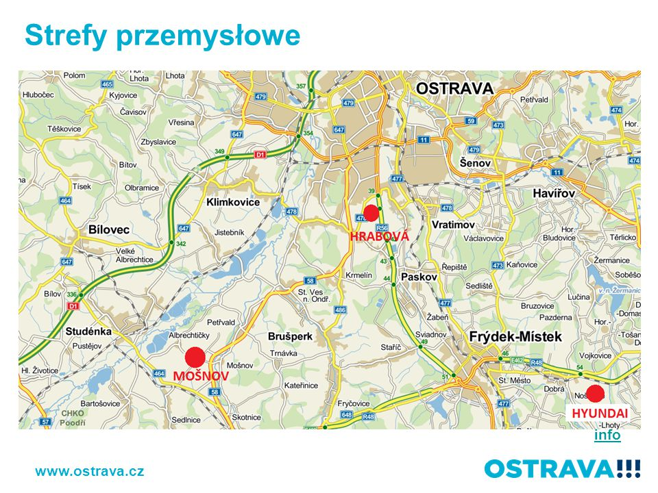 Strefy przemysłowe info www.ostrava.cz