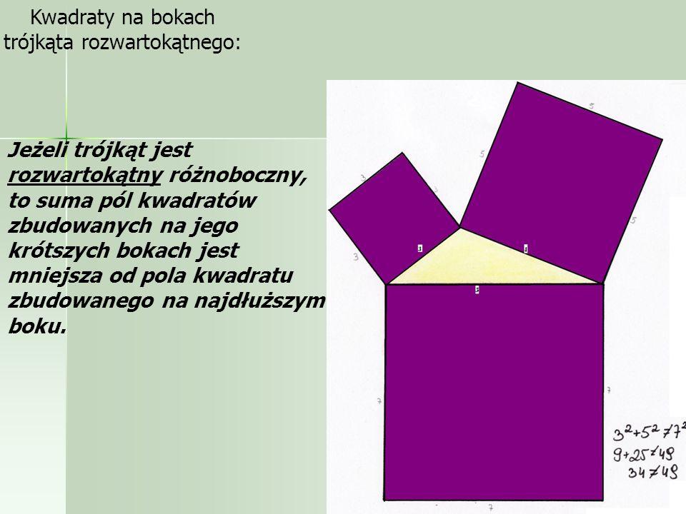 trójkąta rozwartokątnego: