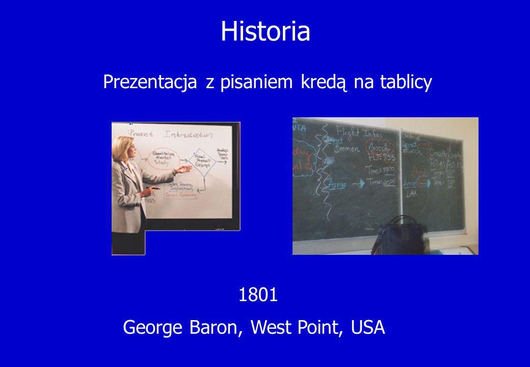 Prezentacja z pisaniem kredą na tablicy
