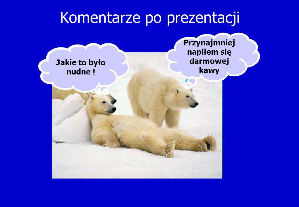 Komentarze po prezentacji