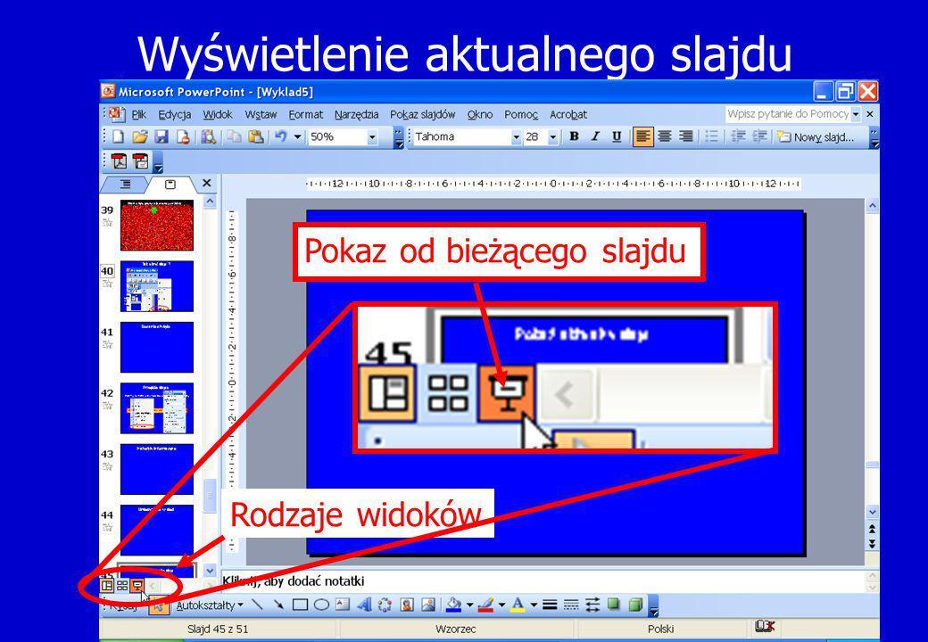 Wyświetlenie aktualnego slajdu