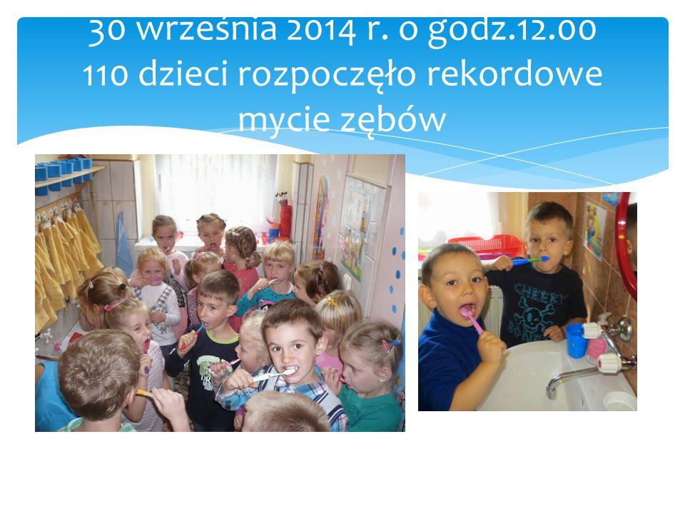 30 września 2014 r. o godz.12.00 110 dzieci rozpoczęło rekordowe mycie zębów