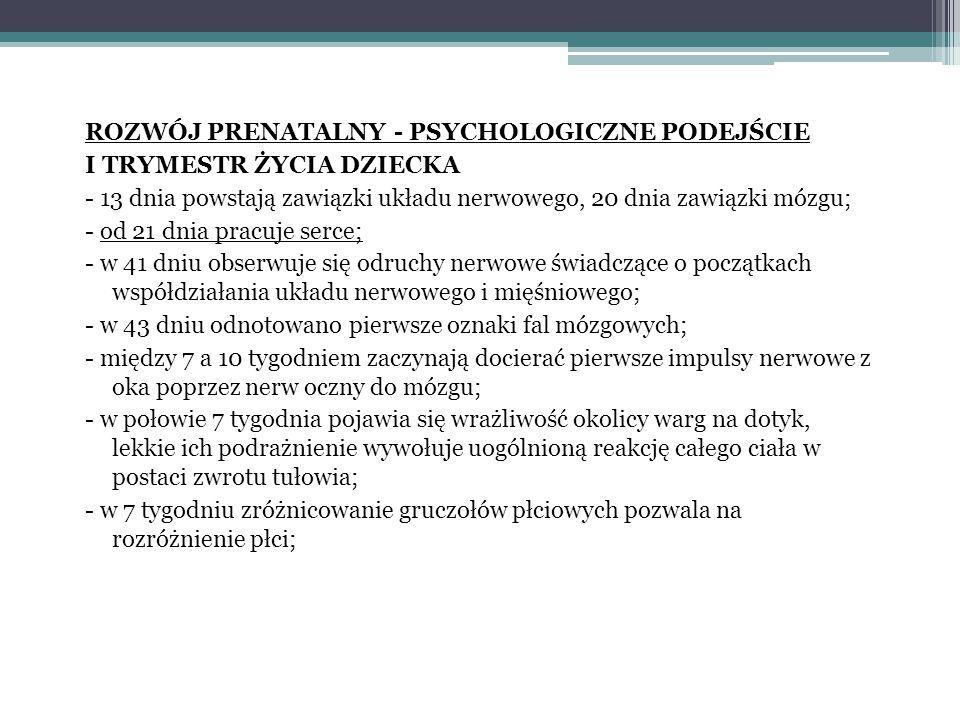 ROZWÓJ PRENATALNY - PSYCHOLOGICZNE PODEJŚCIE