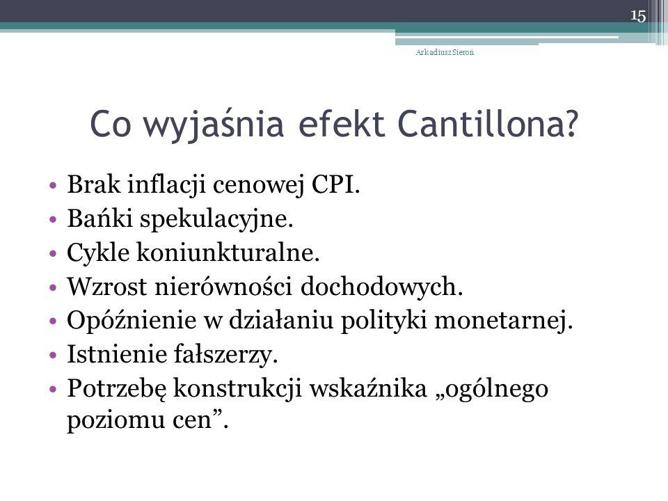 Co wyjaśnia efekt Cantillona