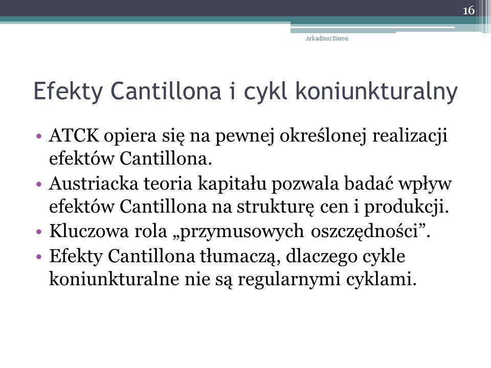 Efekty Cantillona i cykl koniunkturalny