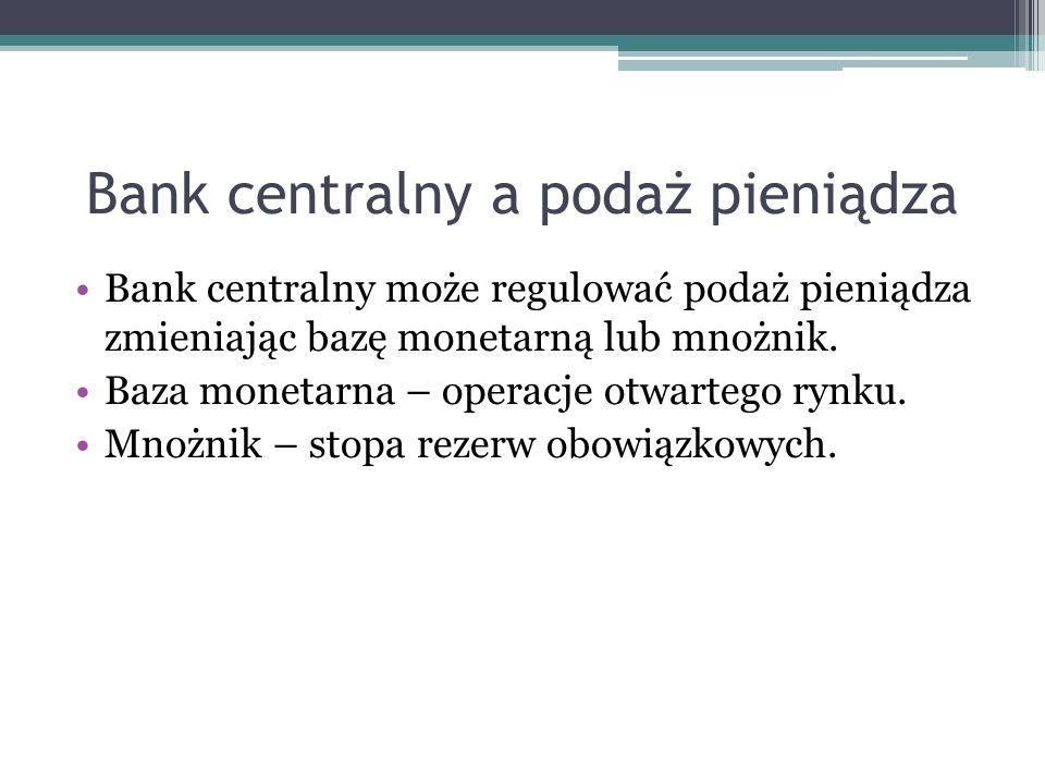 Bank centralny a podaż pieniądza