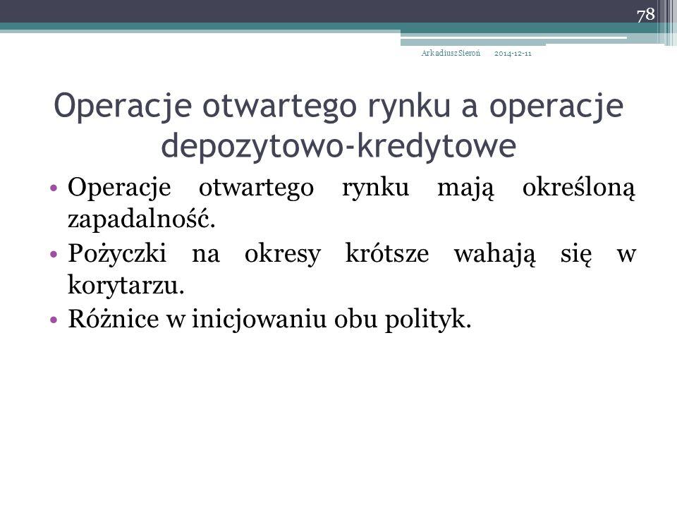 Operacje otwartego rynku a operacje depozytowo-kredytowe