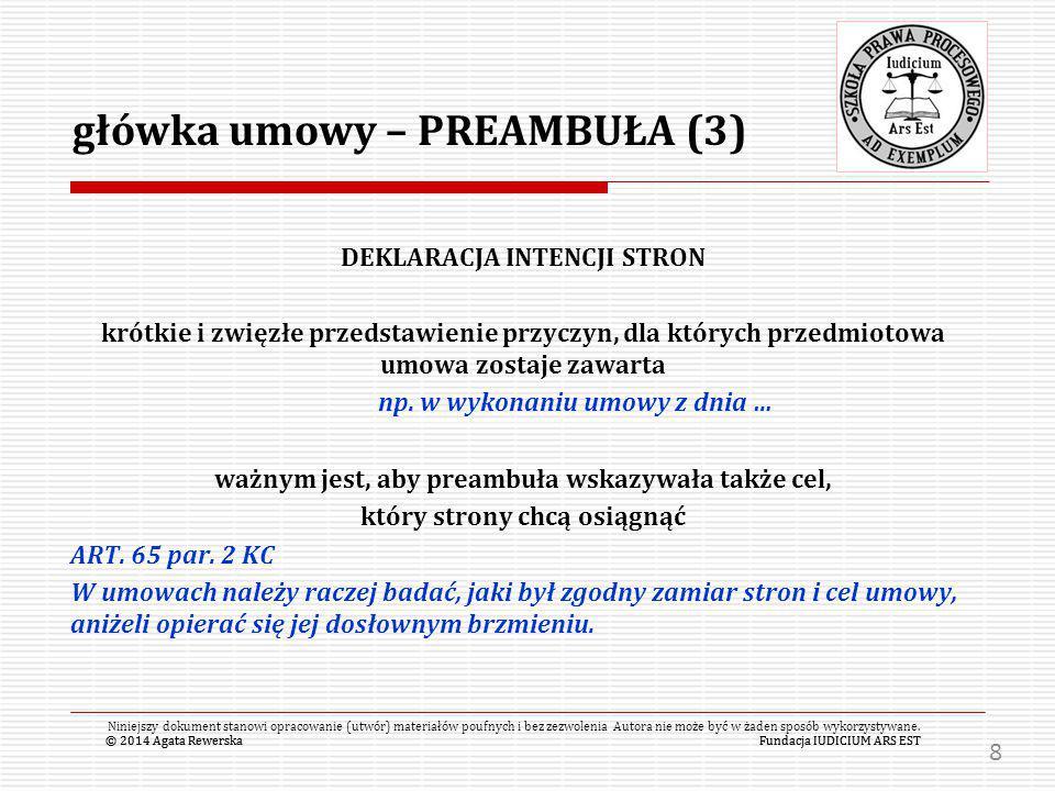 główka umowy – PREAMBUŁA (3)