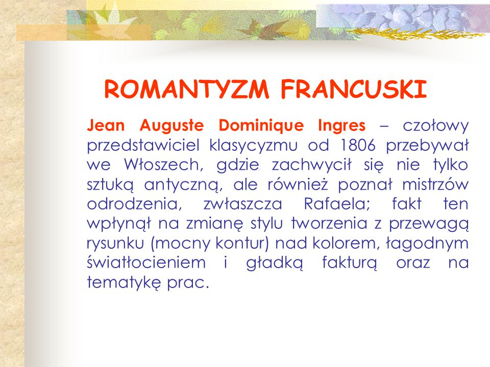 ROMANTYZM FRANCUSKI