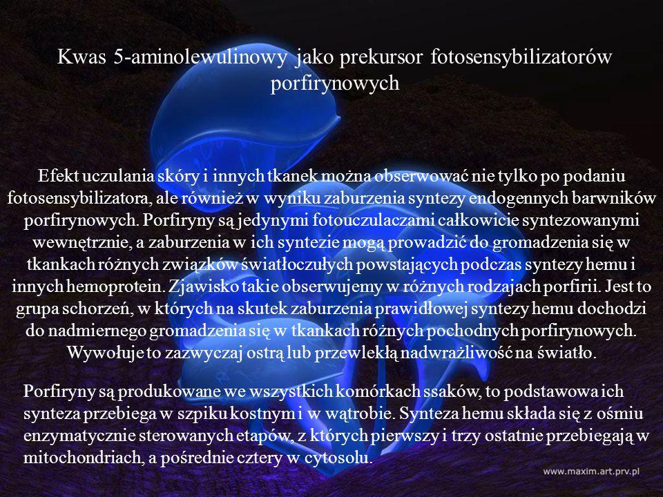Kwas 5-aminolewulinowy jako prekursor fotosensybilizatorów porfirynowych