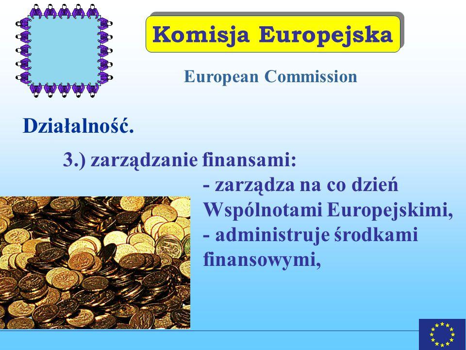 Komisja Europejska Działalność. 3.) zarządzanie finansami: