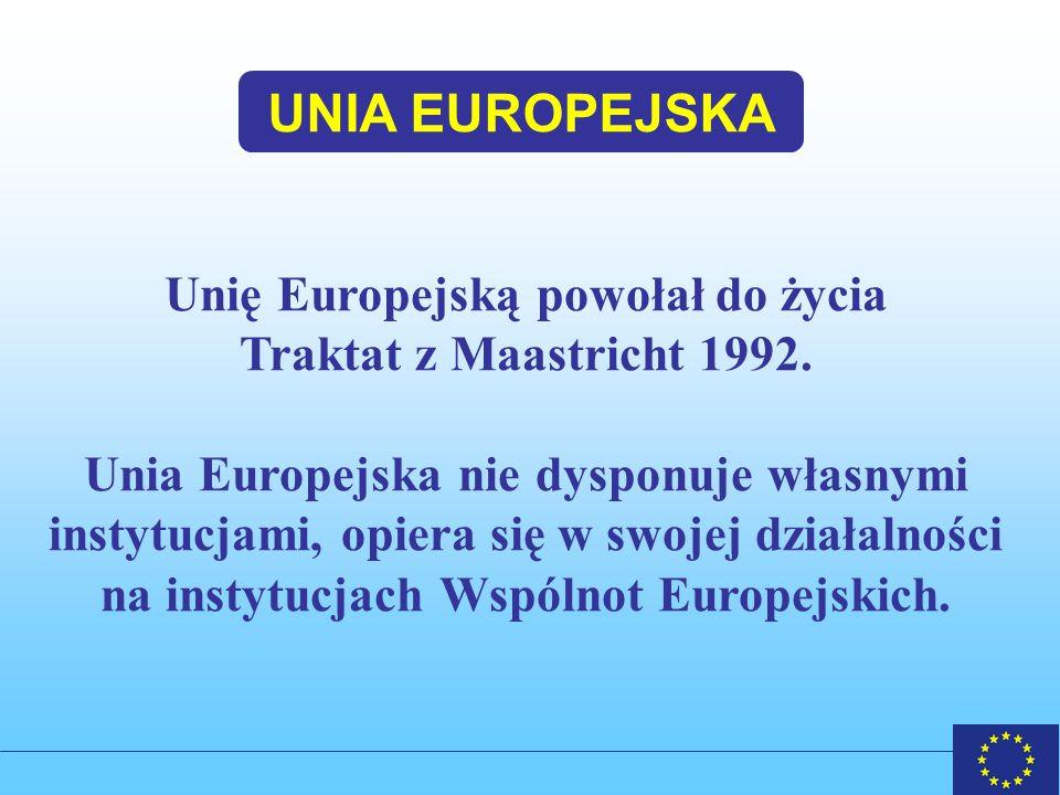 UNIA EUROPEJSKA Unię Europejską powołał do życia
