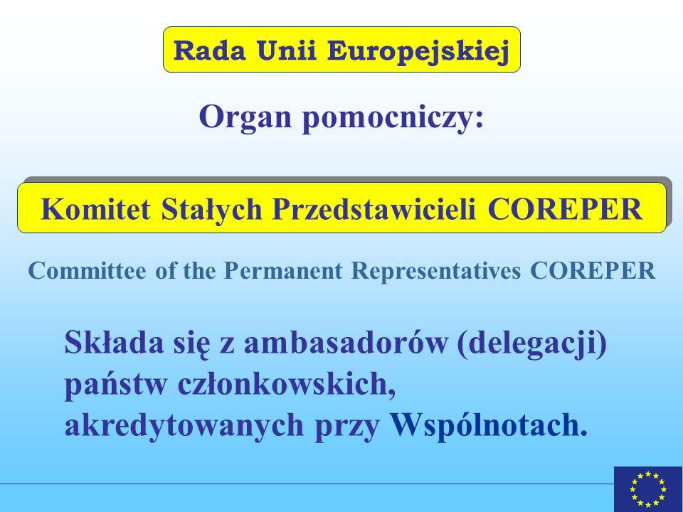 Składa się z ambasadorów (delegacji) państw członkowskich,