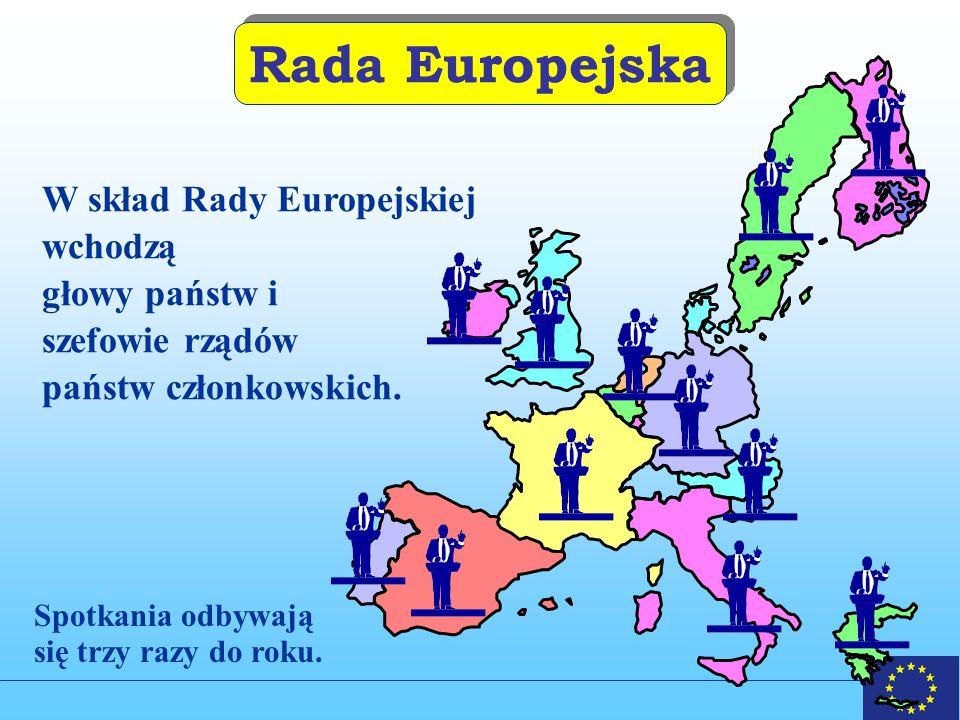 Rada Europejska W skład Rady Europejskiej wchodzą głowy państw i