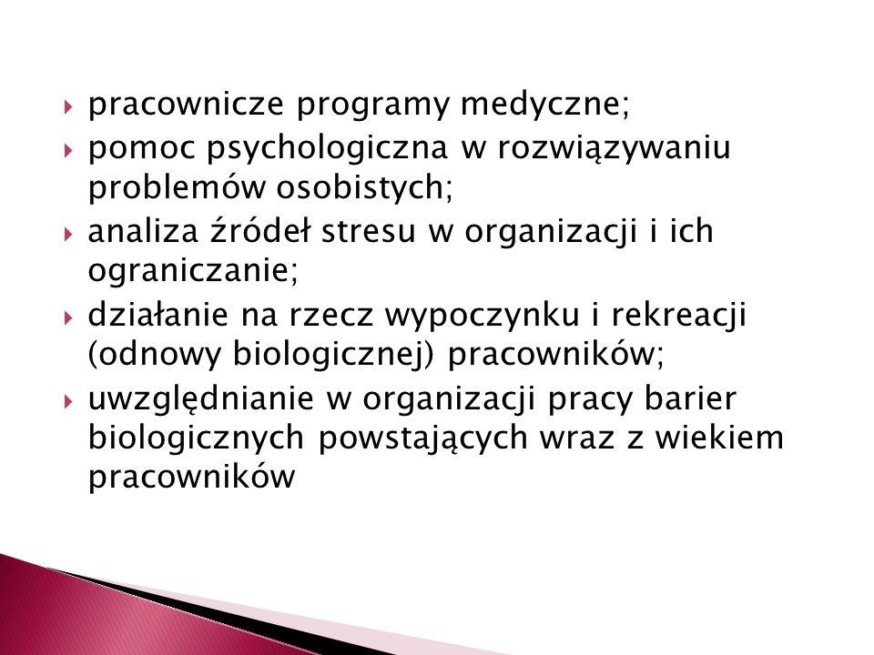 pracownicze programy medyczne;