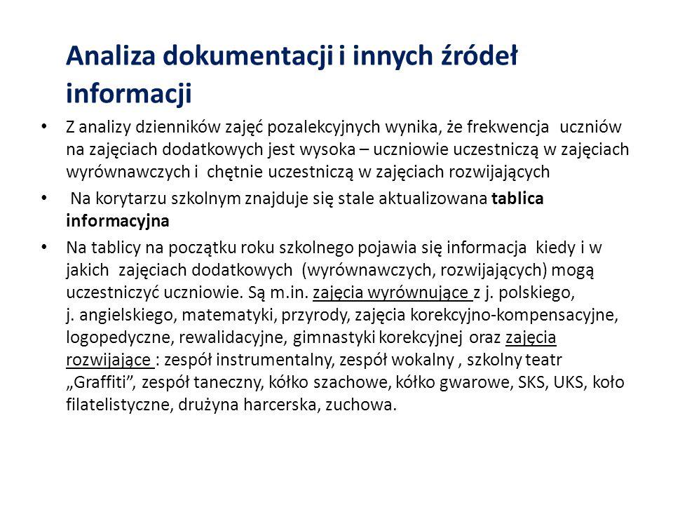 Analiza dokumentacji i innych źródeł informacji