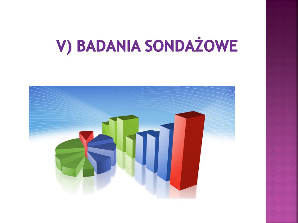 V) Badania sondażowe