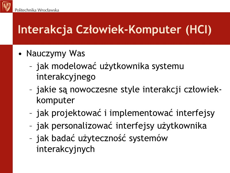 Interakcja Człowiek-Komputer (HCI)