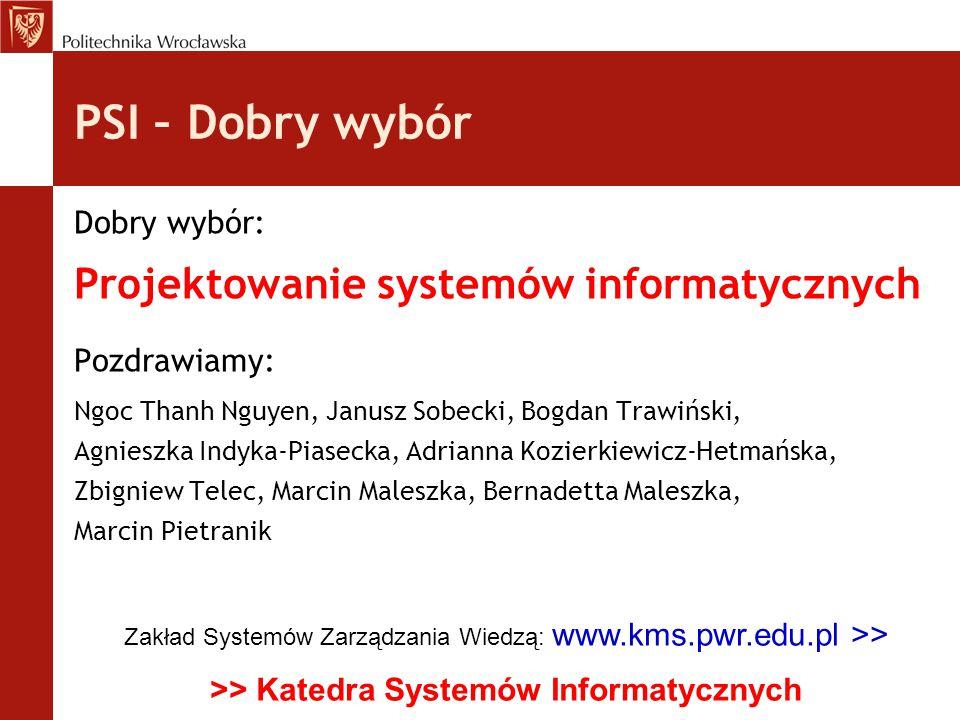 >> Katedra Systemów Informatycznych