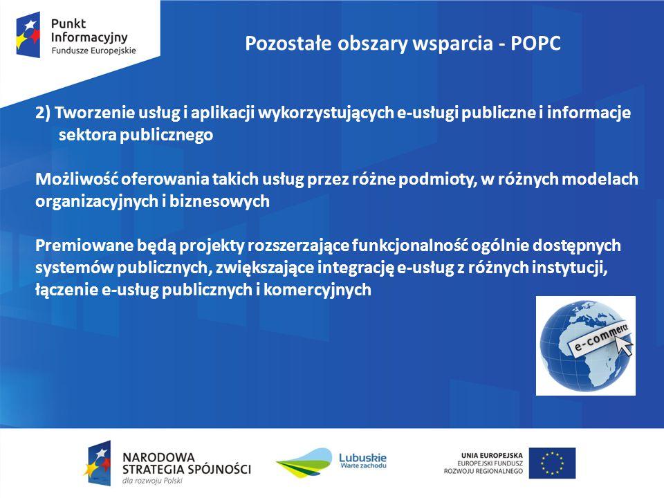 Pozostałe obszary wsparcia - POPC