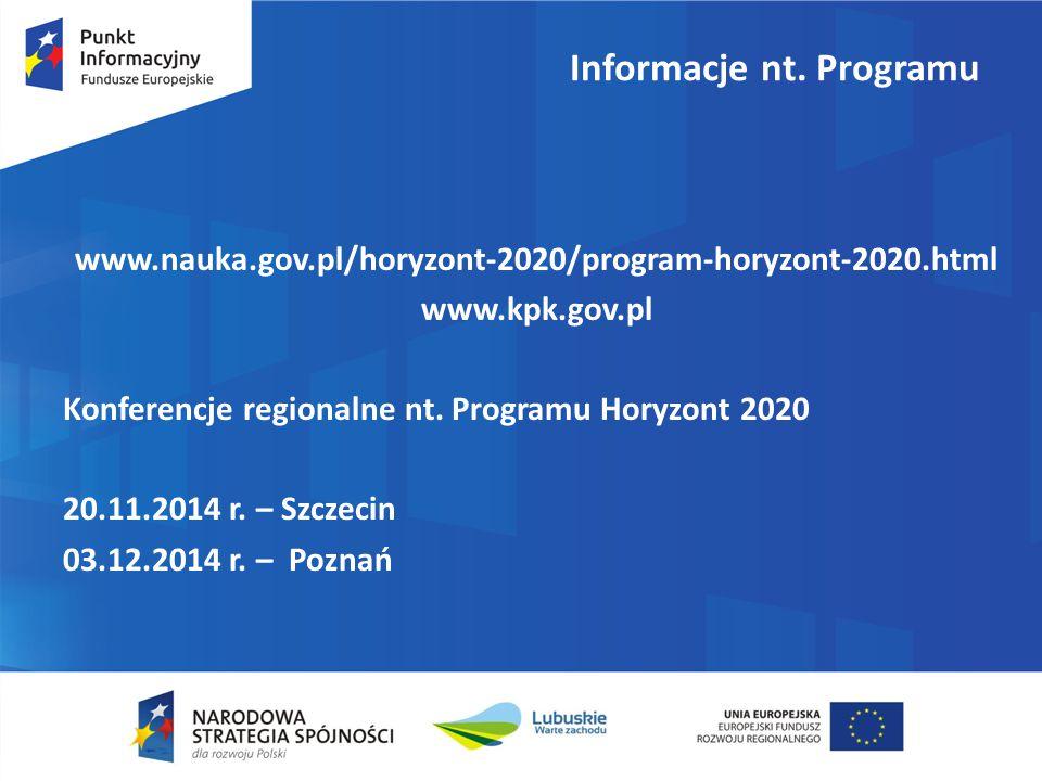 Informacje nt. Programu