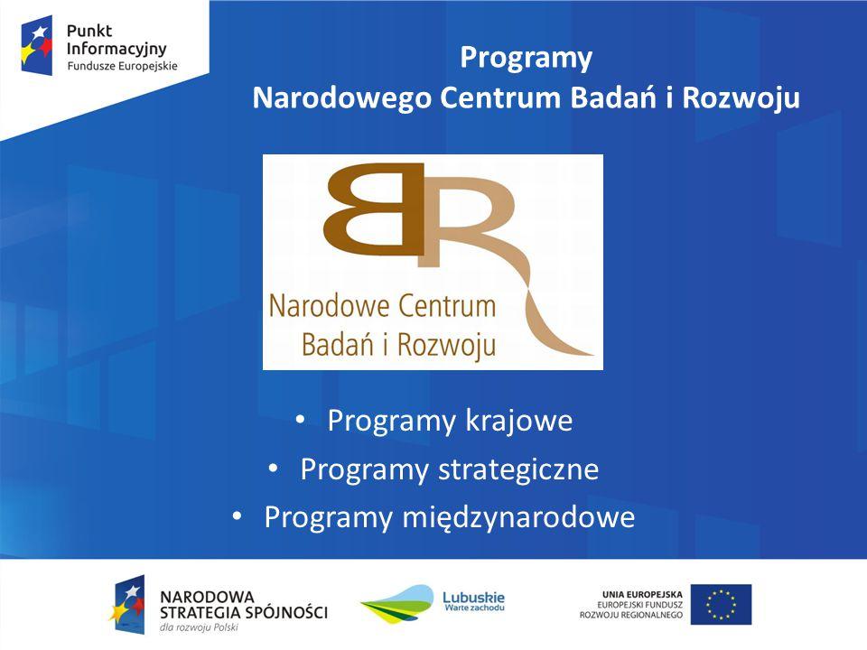Programy Narodowego Centrum Badań i Rozwoju