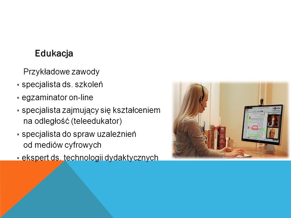 Edukacja Przykładowe zawody specjalista ds. szkoleń