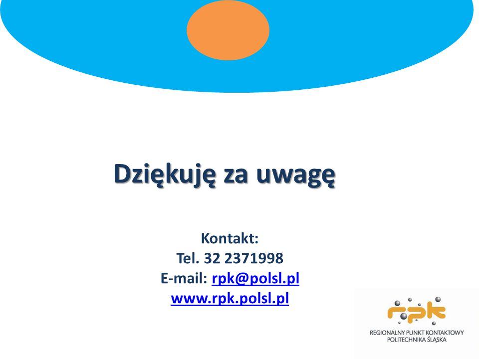 Kontakt: Tel. 32 2371998 E-mail: rpk@polsl.pl www.rpk.polsl.pl