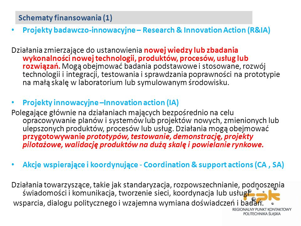 Schematy finansowania (1)
