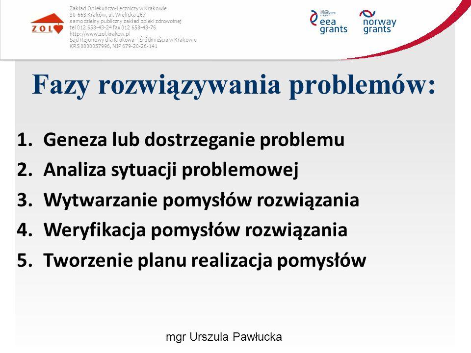 Fazy rozwiązywania problemów: