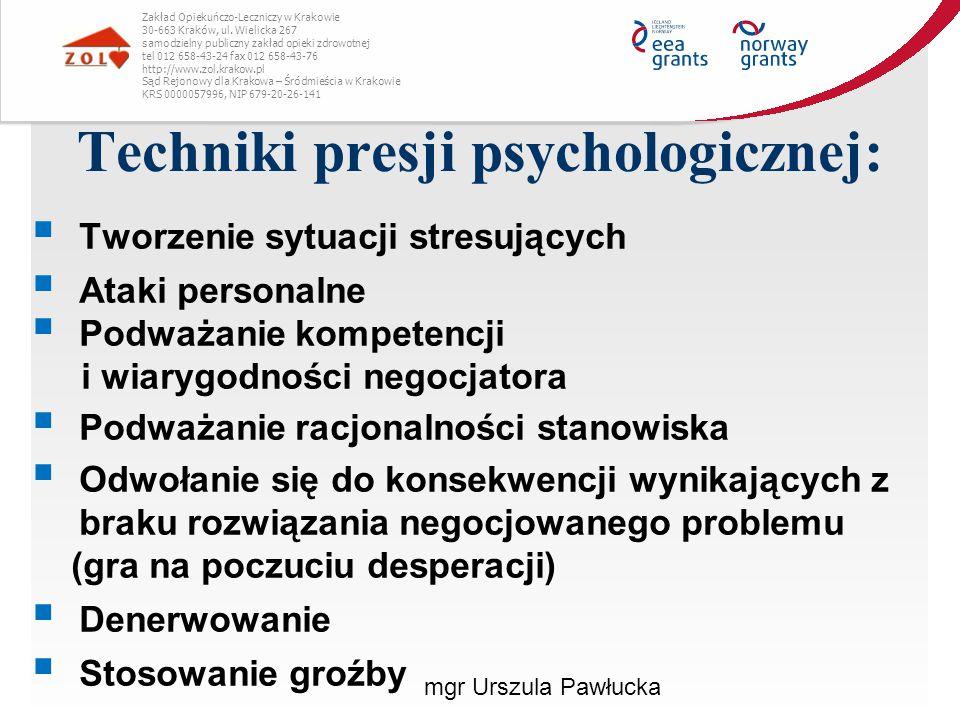 Techniki presji psychologicznej: