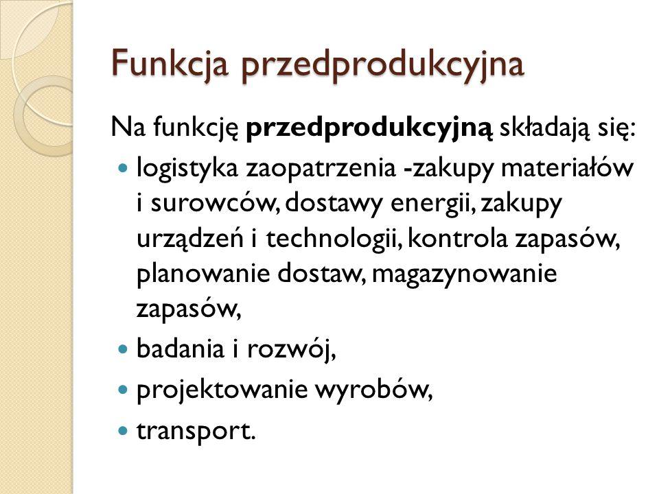 Funkcja przedprodukcyjna