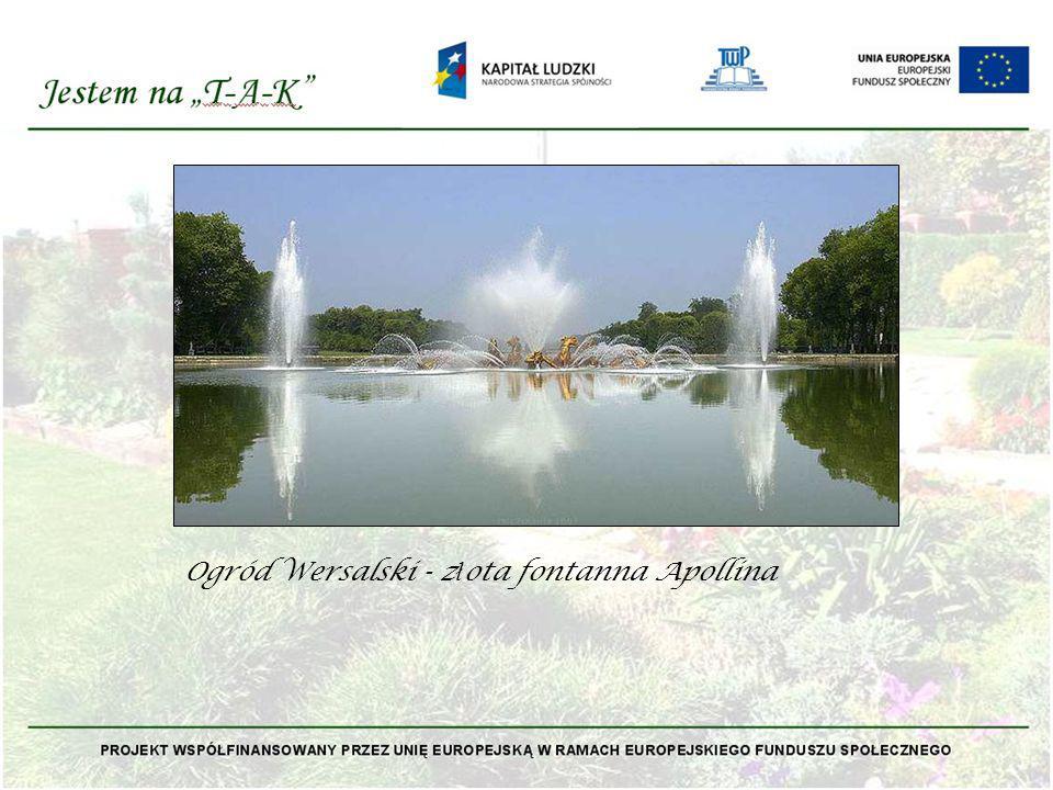 Ogród Wersalski - złota fontanna Apollina