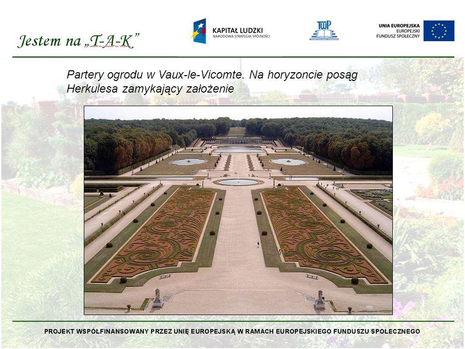 Partery ogrodu w Vaux-le-Vicomte
