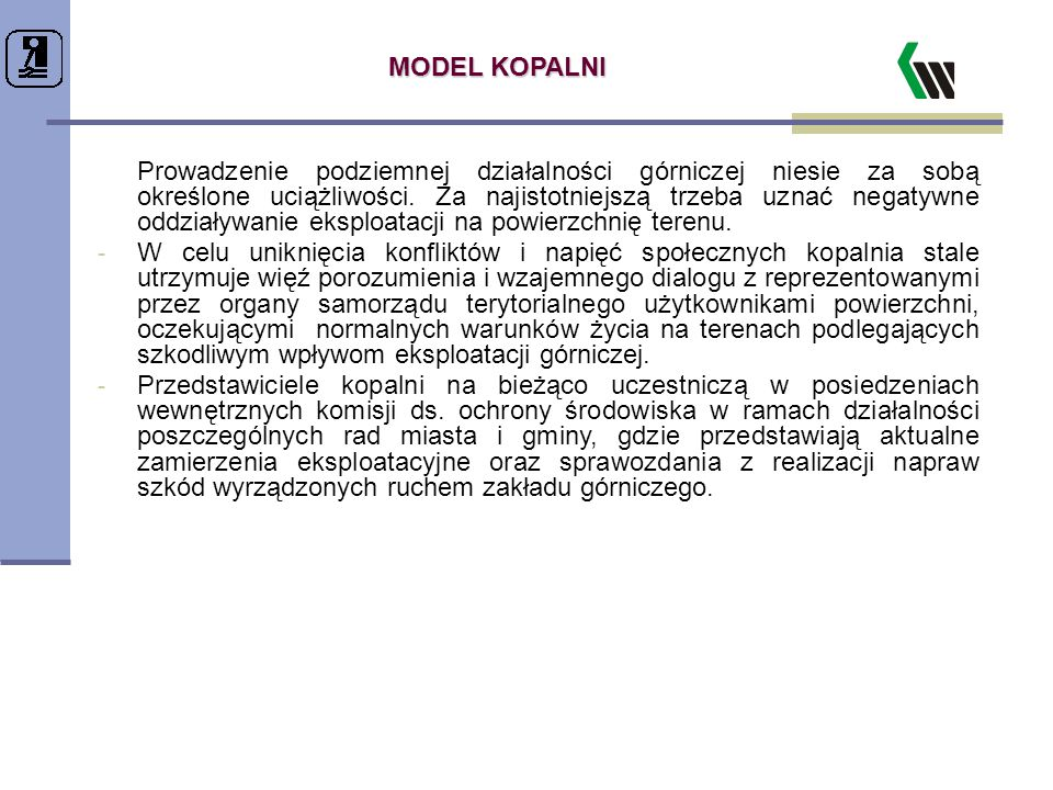 MODEL KOPALNI