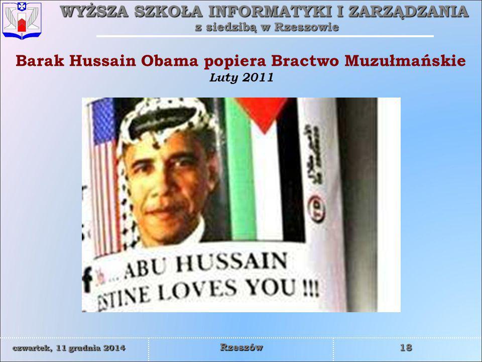 Barak Hussain Obama popiera Bractwo Muzułmańskie