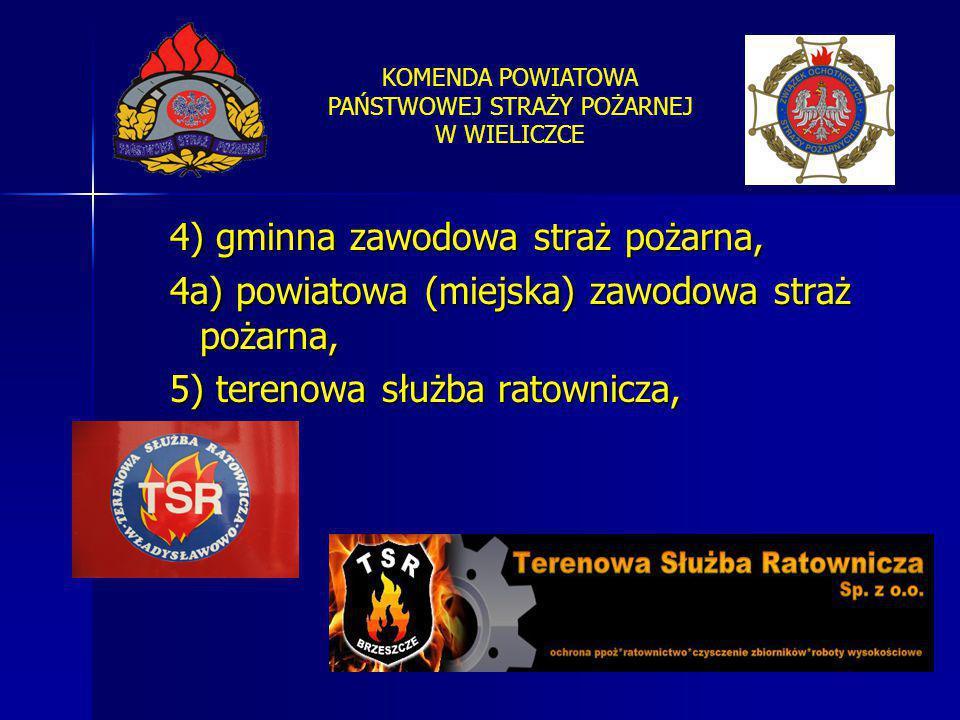 4) gminna zawodowa straż pożarna,