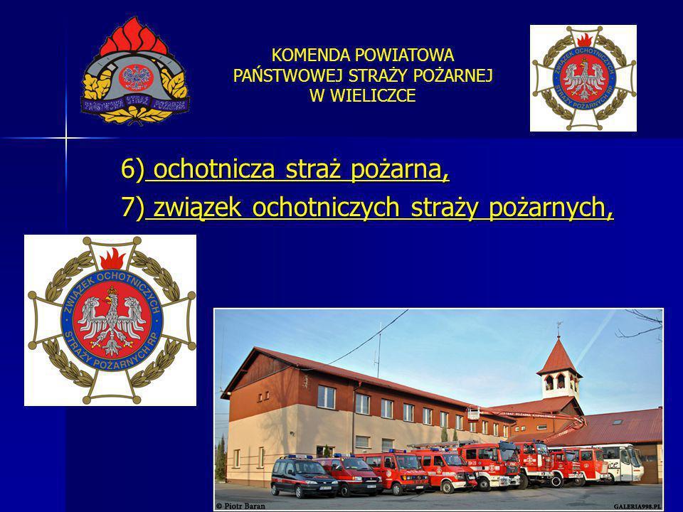 6) ochotnicza straż pożarna,