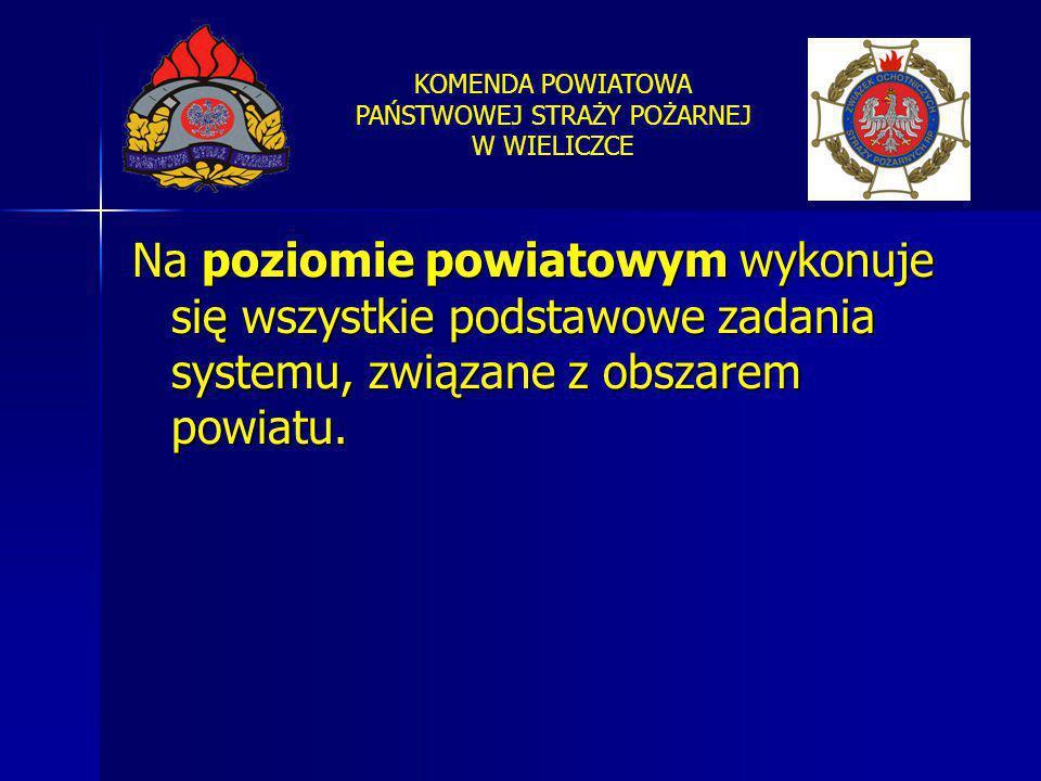Na poziomie powiatowym wykonuje się wszystkie podstawowe zadania systemu, związane z obszarem powiatu.