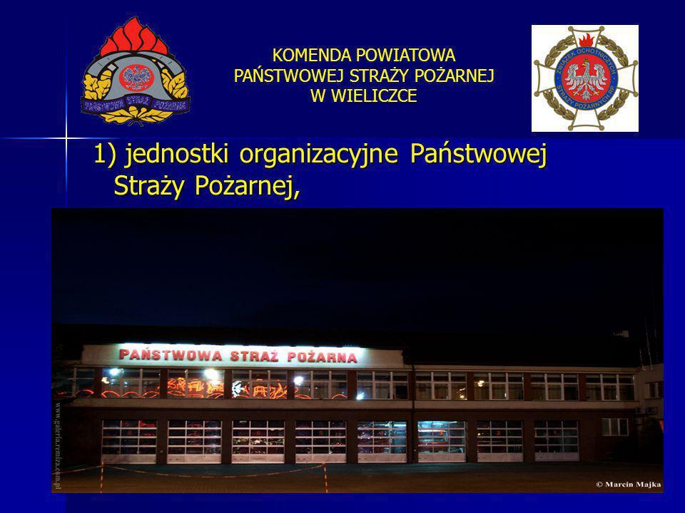 1) jednostki organizacyjne Państwowej Straży Pożarnej,