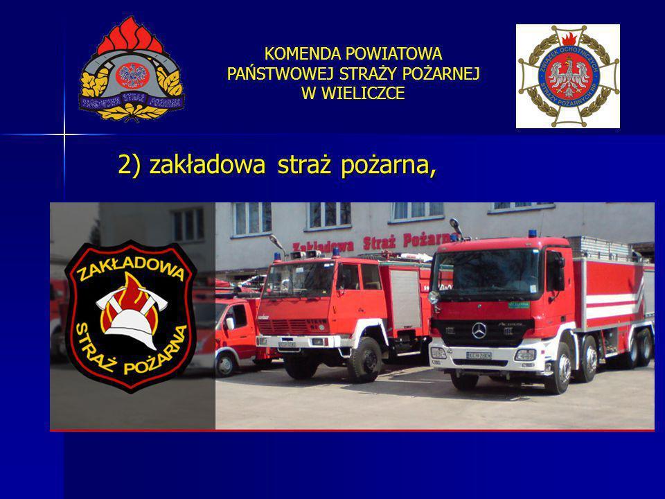 2) zakładowa straż pożarna,